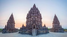 Battling Yogyakarta moto traffic to catch the sunset at Candi Prambanan was totally worth it since we stayed till the absolute last minute before they kicked us out. The sunset only had a few minutes of color at the end. IG doesn't truly capture this image since it was a 10 photo pano stitched together.  #prambanan #indonesia #yogyakarta #java