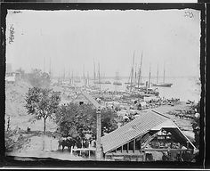 Landing supplies at City Point, Virginia. (c. 1864)