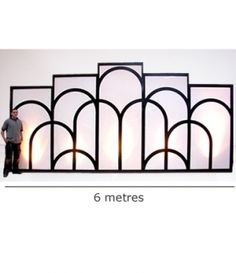 High quality Art Deco Illuminated Backdrop available to hire. View Art Deco Illuminated Backdrop details, dimensions and images.