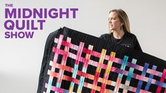Beginner Friendly WEAVE IT BE Lattice Quilt (with Walking Foot Quilting!...