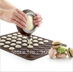 Free Shipping Small Size Macaron Special Baking Mat Silicone MatDecorating Tips Icing Nozzles Set-in Cookie Moulds from Home  Garden on Aliexpress.com $8.69