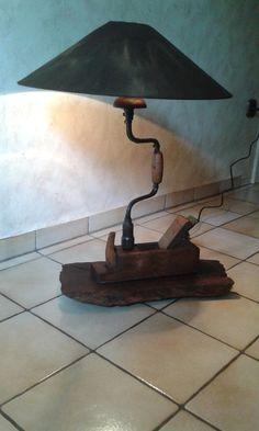 Pipe Lighting, Rustic Lighting, Man Cave Furniture, Driftwood Lamp, Rustic Crafts, Cool Lamps, Wooden Lamp, Creative Lamps, Diy Interior