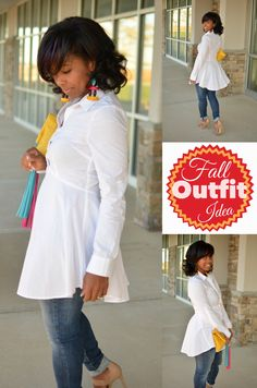 2 Stylish White Button Downs: Look One | Sweenee Style