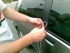 Unlock Your Car in 10 Seconds Using Shoestring Have you locked your keys in your car and need a quick way to unlock your car door? Here's a way to do it in 10 seconds using just a shoestring.