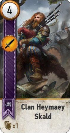 Clan Heymaey Skald (gwent card)