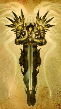 Half Angel Paladin Angel Warrior, Fantasy Warrior, Fantasy Art, Woman Warrior, Diablo Game, Diablo 3, Blizzard Diablo, Christian Warrior, Guardian Angel Tattoo