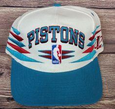 06f8e21da72 Detroit Pistons Vintage Snapback Logo Athletic Diamond Hat NBA Rare Cap  Starter Nba Caps
