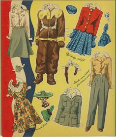Miss Missy Paper Dolls: Girl Pilots of the Ferry command