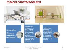 ESPACIO CONTEMPORANEO  •Se  identifica  con materiales modernos y tecnológicos.  30/07/2012  •Los adornos son pocos, no ha... How To Draw, Space, Ornaments