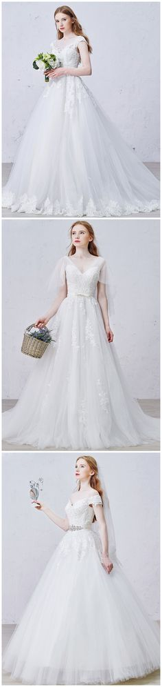 Every Bride Deserve to Be The Princess on Her Big Days. Embrace Your Inside Princess Dream, Wearing These Romantic Lace Ball-gown. Custom Size from US 2 to 26. Find These Gowns in GemGrace.com,  Enjoy Free Shipping Today!