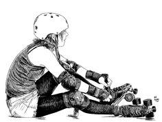Roller derby girl.
