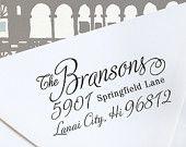Custom Address Stamp - Wood Handle - great wedding gift  - cute housewarming gift / a1064