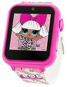 L O L Surprise! Touch-Screen Smartwatch- Built in Selfie-Camera- Easy-to-Buckle Strap- Pink Smart Watch - Model: Cadeau Surprise, Surprise Gifts, Best Kids Watches, Cool Watches, Wrist Watches, Popular Watches, Little Girl Birthday, Little Girls, Best Selfies