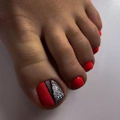Classy Nails, Stylish Nails, Trendy Nails, Pedicure Nail Art, Pedicure Designs, Cute Toe Nails, Dope Nails, Square Nail Designs, Toe Nail Designs