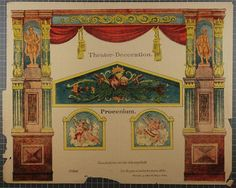 Theater-Decoration. Procenium. No. 8848 by Gustav Kühn. Antique paper theater sheet unmounted and uncut from the online museum collection at http://skd-online-collection.skd.museum/de/contents/showSearch?id=298057#