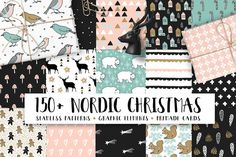150+ Nordic Christmas set by Tabita's shop on @creativemarket
