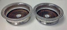 Georgian Silver Wine Coasters Sheffield 1825 J.Watson