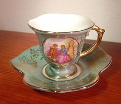Miniature China Cup and Saucer made in Japan
