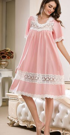 Miss Linda is elegant designs of intimate apparel, Serene comfort cotton nightgowns & soft and lightweight of luxury silk elegance womens sleepwear Night Gown Dress, Sleep Night Dress, Cotton Nighties, Desi Wedding Dresses, Night Dress For Women, Frock Design, Dress Sewing Patterns, Sleepwear Women, Lingerie Collection