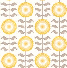 Tall Flower  Golden Haze wallpaper by Layla Faye