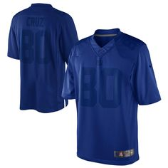 Mens New York Giants Victor Cruz Nike Royal Blue Drenched Limited Jersey