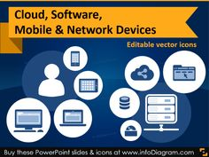 IT icons Cloud, Software, Mobile & Network devices (flat PPT clipart). More: https://www.infodiagram.com/diagrams/it-icons-cloud-software-mobile-network-devices-flat-ppt-clipart.html