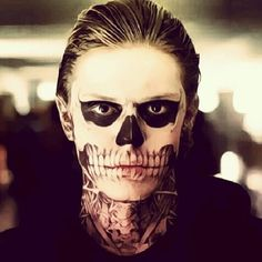 american horror story tate skull face - Google Search
