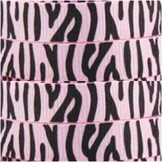 3/8 Pink & Brown Zebra Printed Grosgrain by RibbonCollection, $2.30