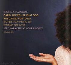Set Character As Your Priority - Elisabeth Elliot Set Apart Girl Online Magazine (Jan/Feb 2014)