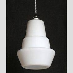 A retro glass ceiling light
