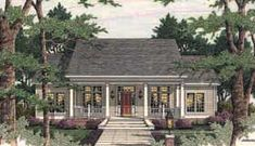 Colonial   Country   Southern   House Plan 40014