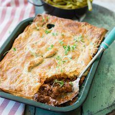 Wildspastei Venison Pie, Venison Recipes, Meat Recipes, Cooking Recipes, Recipies, What's Cooking, Salad Recipes, South African Dishes, South African Recipes