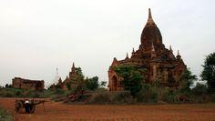 Mending a cart at Phaya Thone Zu Phaya, Bagan, Myanmar