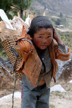 Nepalise boy by Neil Piercy on 500px  Child I wish your burden was not so heavy