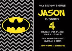 Batman birthday invitation digital file by cutietootieprints 800 batman superhero birthday party invitation printable or printed filmwisefo Choice Image