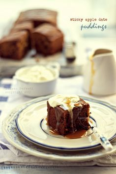 Sticky Apple Date Puddings