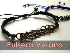 Manualidades Abalorios - Pulsera de cadena para el Verano