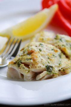 Garlic and Herb Baked Cod - Fish recipes Cod Fish Recipes, Baked Cod Recipes, Seafood Recipes, Dinner Recipes, Cooking Recipes, Garlic Recipes, Clean Recipes, Drink Recipes, Free Recipes