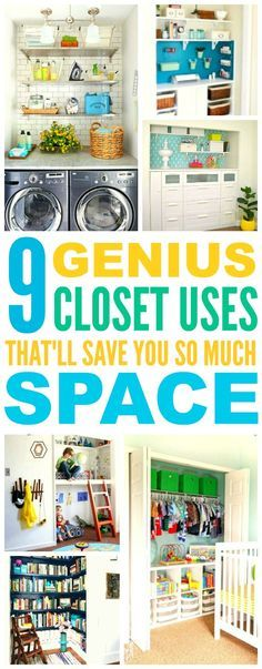 These 9 Brilliant Closet Uses are THE BEST! I'm so happy I found these GREAT ideas! Now I'll have some awesome extra space! Definitely pinning for later!