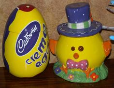 Two Easter cookie jars that look really great together!
