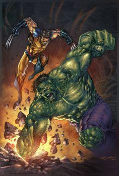Wolverine Vs Hulk by JUANCAQUE.deviantart.com on @deviantART