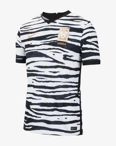 Nike Korea 2020 Stadium Away Men's Soccer Jersey (White) Football Jackets, Football Tops, Football Outfits, Football Jerseys, Football Design, Football Pitch, Baseball, Nike Gold, Soccer Kits