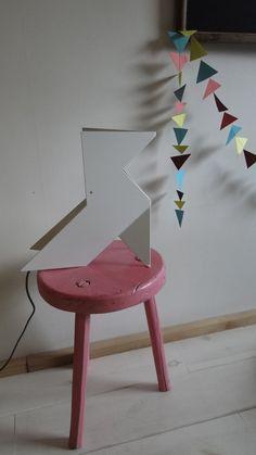 Grande lampe en origami Nathale Be