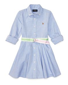 Polo Dress Outfit, Dress Outfits, Kids Outfits, Shirt Dress, Fashion Outfits, Dresses, Kids Fashion, Oxford, Ralph Lauren