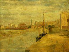 Antonín Chittussi - The harbor (1886) #painting #art #Czechia  #CzechArt