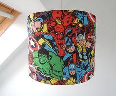 handmade superhero lampshade by the shabby shade | notonthehighstreet.com