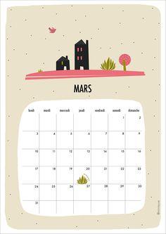 Free Printable Calendar March 2014