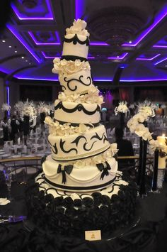 Black And White Wedding — Whimsical / Topsy-Turvy Cakes