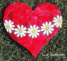 Mosaic heart, mosaico coração ,mosaico corazones