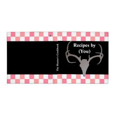 Personalized Hunters Checkerboard Recipe Cookbook Vinyl Binder